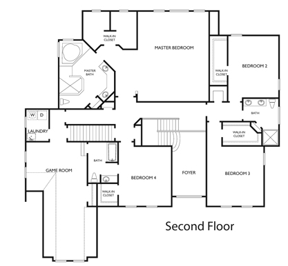 Vance Level Charlotte Chesapeake Virginia Floor Plan