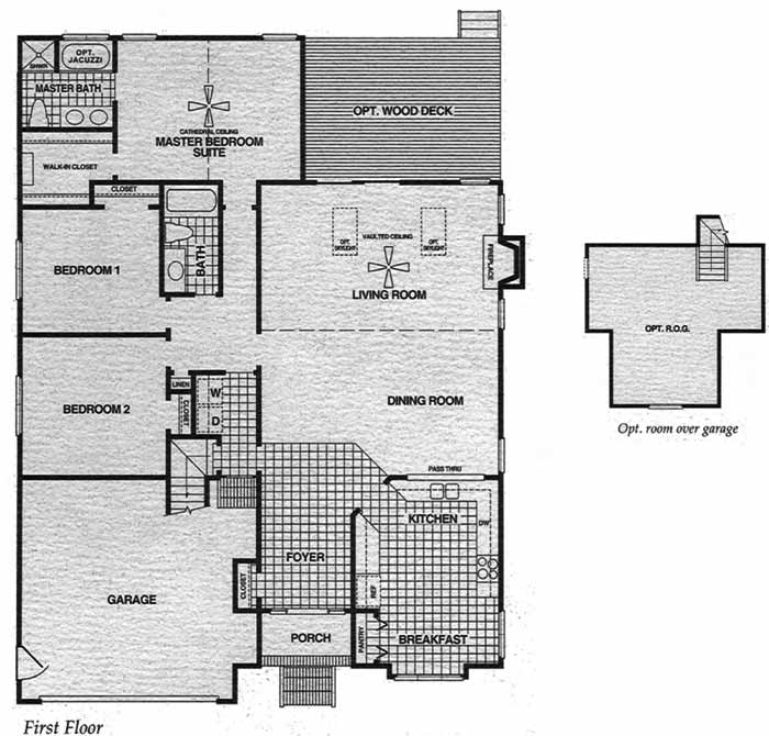 Vance Level Azalea Chesapeake Virginia Floor Plan