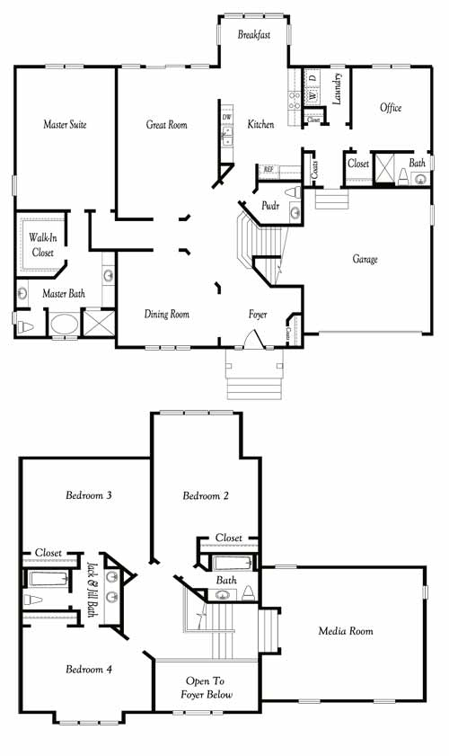 Vance Level Dahlia Chesapeake Virginia Floor Plan