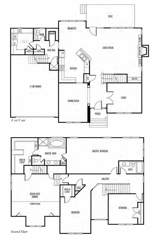 Vance Level Daisy Chesapeake Virginia Floor Plan